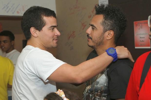 Thiago Martins e Marcelo D2 (Foto: Roberto Filho/ Ag. News)