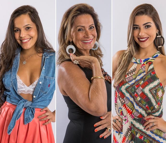 Emilly, Ieda e Vivian estão na disputa por 1,5 milhão de reais (Foto: Artur Meninea/Gshow)