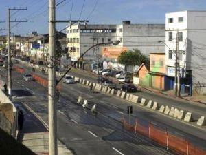 Obras da A veninda Fernando Ferrari, em Goibeira, em Vitória, no ES. (Foto: Divulgação/PMV)