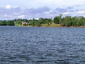 Jovem se afogou em lago de Lages, na Serra (Foto: Reprodução RBS TV)