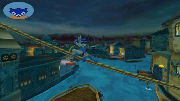 Sly move-se com leveza pela cidade, saltando de telhado em telhado (Foto: playstationlyfestyle.net)