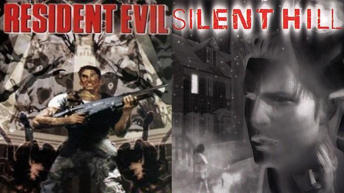 Resident Evil e Silent Hill sempre foram ícones do terror mas evoluíram de formas muito diferentes (Foto: Reprodução/PlayStation Wiki e Gaming Memoirs)