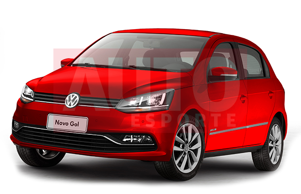 Projeção do Volkswagen Gol facelift (Foto: Yuri Queiroz/Autoesporte)