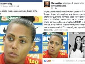 Após polêmica, Marcos Clay se posicionou novamente e depois apagou posts (Foto: Reprodução/Facebook)