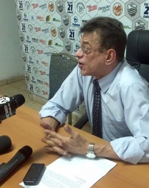 Nelson Lacerda, presidente do Comercial (Foto: João Fagiolo / Globoesporte.com)