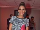 Grávida, namorada de Eike Batista vai a evento de moda em São Paulo