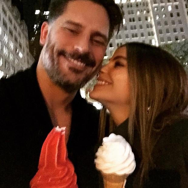 Sofia Vergara e Joe Manganiello em Nova York, nos Estados Unidos (Foto: Instagram/ Reprodução)