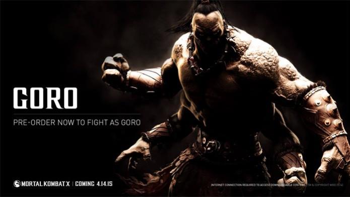 Goro retorna como personagem jogável em Mortal Kombat X (Foto: Divulgação) (Foto: Goro retorna como personagem jogável em Mortal Kombat X (Foto: Divulgação))