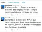 Presidente Temer lamenta mortes de PMs em queda de helicóptero no Rio