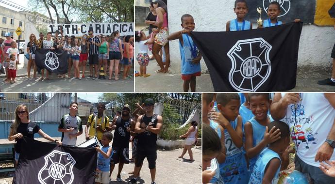No 'Dia da Crianças', torcida do Rio Branco-ES faz doação de brinquedos (Foto: Divulgação/CAN)