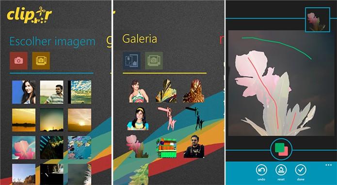 Clipr faz recorte e colagem com suas imagens de maneira fácil e intuitiva (Foto: Divulgação/Windows Phone Store)