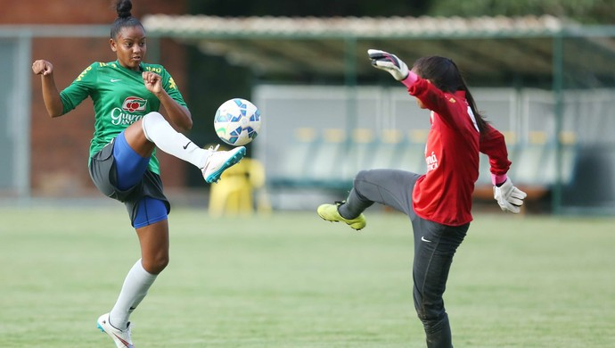 Geyse Ferreira é uma das alagoanas das bases da Seleção Brasileira feminina (Foto: Rafael Ribeiro/CBF)