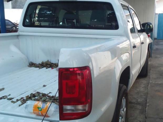 Irmãos foram presos por venderem caminhonete roubada para índios em Mato Grosso. (Foto: Polícia Civil de Mato Grosso)