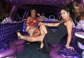 Sheyla Mell e Gaby Rodrigues, candidatas a Gata do Brasil (Foto: Iwi Onodera / EGO)