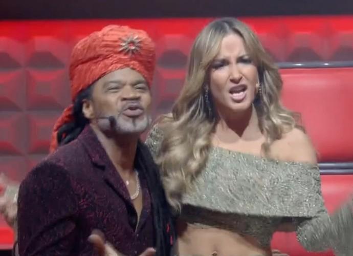 Claudia Leitte e Carlinhos Brown curtem apresentação na Rodada de Fogo (Foto: TV Globo)