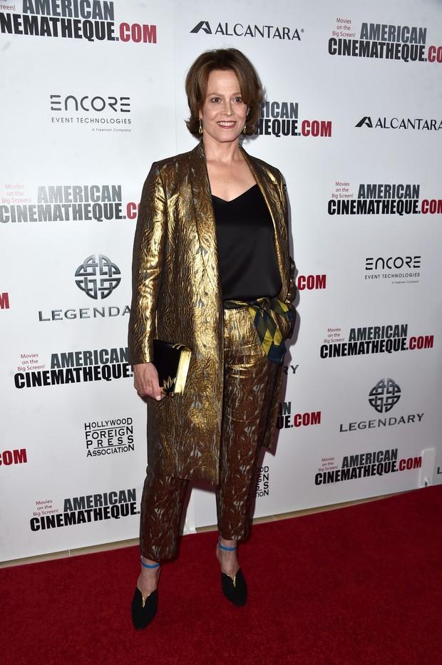 Sigourney Weaver em premiação de cinema em Los Angeles, nos Estados Unidos (Foto: Alberto E. Rodriguez/ Getty Images/ AFP)