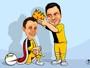 Charge: Falcão elege Rodrigo como sucessor e novo rei do futsal brasileiro