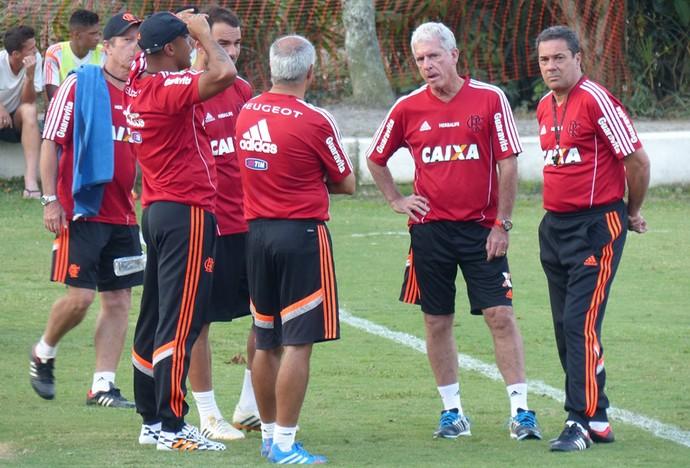 Treino Flamengo - Luxemburgo (Foto: Carlos Mota)