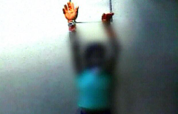 Lucélia Rodrigues da Silva foi encontrada amarrada e amordaçada em Goiânia (Foto: Reprodução/TV Anhanguera)