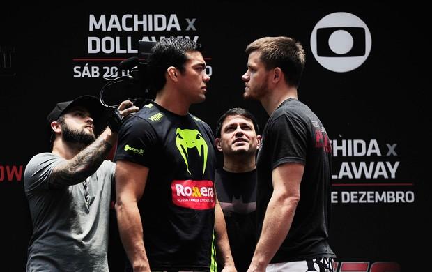 Lyoto Machida x Dollaway treino aberto UFC Barueri (Foto: Marcos Ribolli)