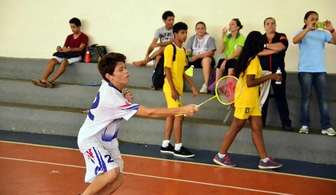 Badminton jogos escolares amazonas (Foto: Mauro Neto/Sejel)