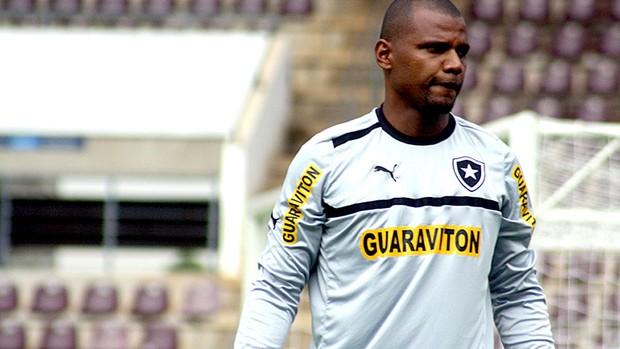 Jefferson no treino do Botafogo (Foto: Cleber Akamine / Globoesporte.com)