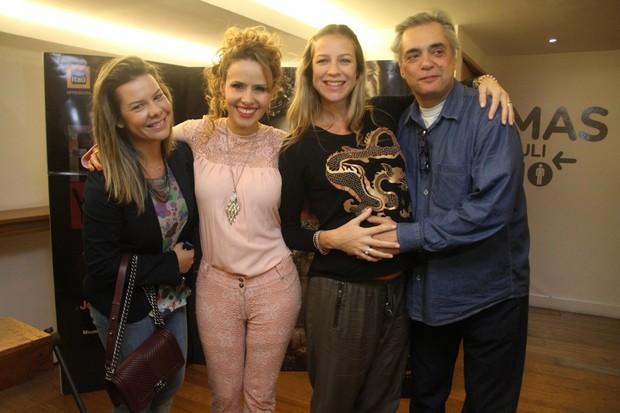 Fernanda Souza, Leona Cavalli, Luana Piovani e José Rubens (Foto: Daniel Delmiro/Ag News)