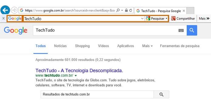 Utilize a barra para fazer pesquisas rápidas no Google (Foto: Reprodução/Barbara Mannara)
