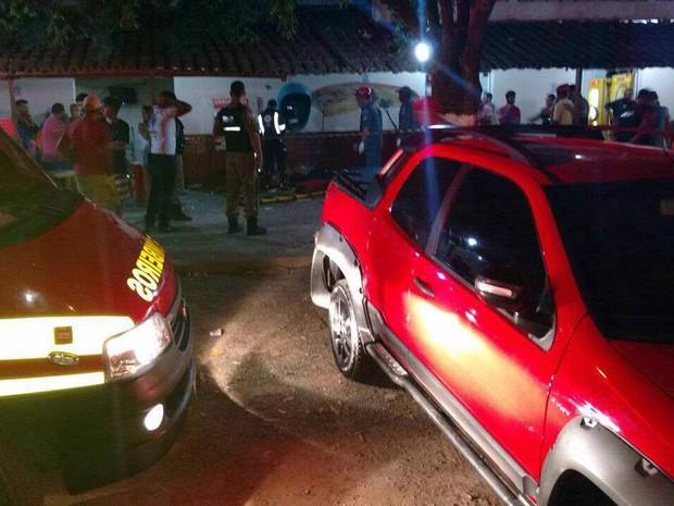 Acidente Rodeiro, MG (Foto: Corpo de Bombeiros/Divulgação)