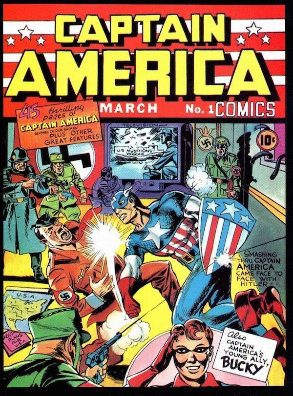 A capa do primeiro número da revista do Capitão América (Foto: Reprodução)