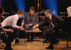 Bill Gates desafia campeão de xadrez e perde em pouco mais de 1 minuto de partida (Foto: Reprodução/TV Globo)