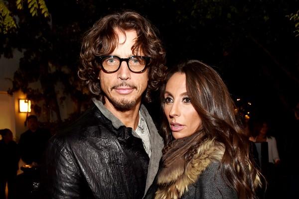Chris Cornell e sua esposa, Vicky (Foto: Getty Images)