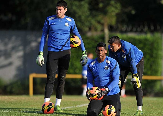 Gabriel Gasparotto Aranha Vladimir Santos (Foto: Ivan Storti/Divulgação Santos FC)