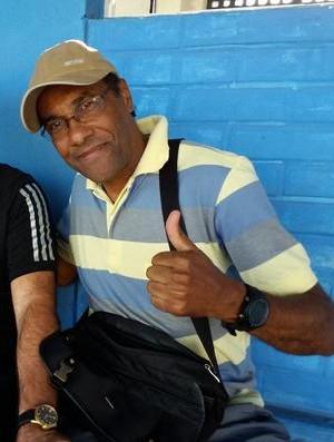 Luiz Antônio Ferreira, técnico do Atlético-ES, ao lado do presidente do clube, Rubens Pinheiro (Foto: Richard Pinheiro/GloboEsporte.com)