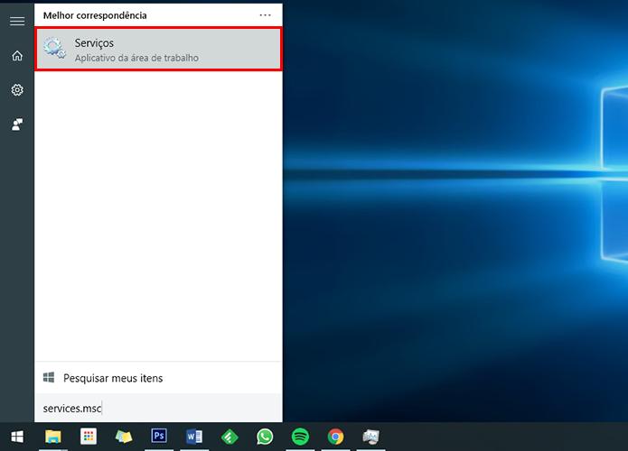 Acesse o painel de serviços do Windows (Foto: Reprodução/Paulo Alves)