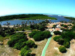 Vista do alto do Farol de Mandacaru (Foto: Maurício Araya / G1)