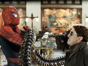 Tobey Maguire e Alfred Molina em 'Homem-Aranha 2'
