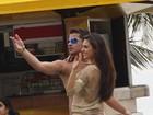 Isis Valverde e Thiago Martins gravam 'Avenida Brasil' no Rio