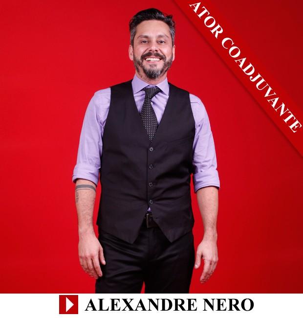 Premio QUEM 2013 Ator Coadjuvante Alexandre Nero (Foto: Arte: Eduardo Garcia)