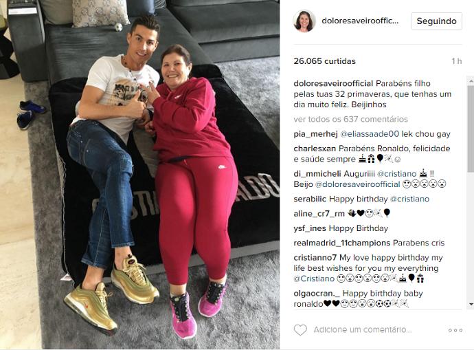 Cristiano Ronaldo birthday mother