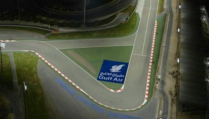Primeira curva do circuito do Bahrein
