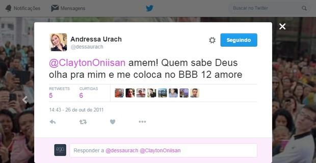 Twitter Andressa Urach 2 (Foto: Reprodução/Twitter)