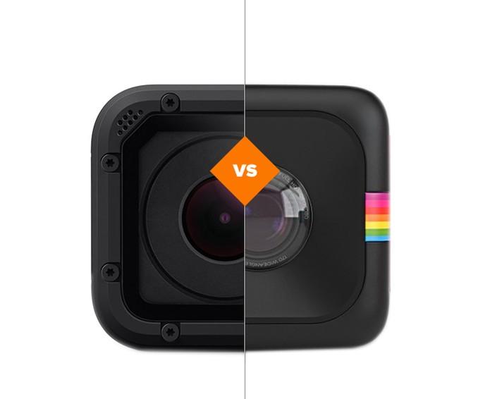 GoPro Hero 4 Session ou Polaroid Cube? Veja quem leva a melhor na disputa (Foto: Arte/TechTudo)