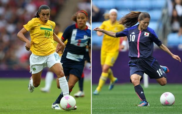 Marta  Brasil Homare Sawa Japão  (Foto: Getty Images)