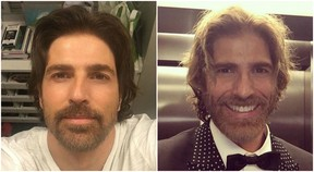 Gianecchini antes e depois de mudar o visual para a novela A Lei do Amor (Foto: Reprodução/Instagram)