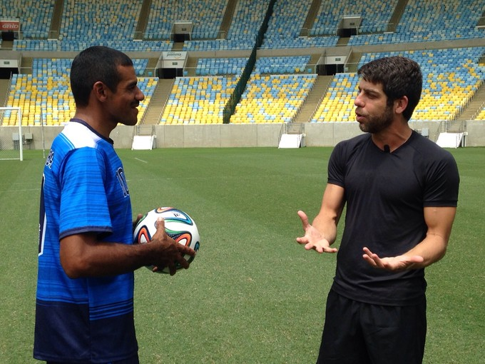 Neno e Juninho Pernambucano, EE (Foto: Gustavo Serra / Esporte Espetacular)