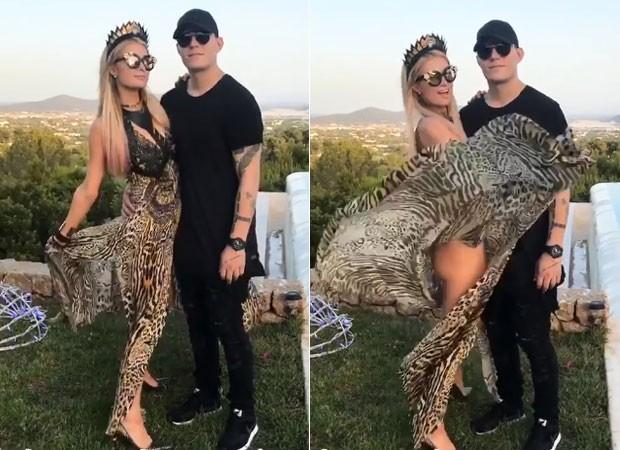 Paris Hilton e o namorado, Chris Zylka (Foto: Reprodução)
