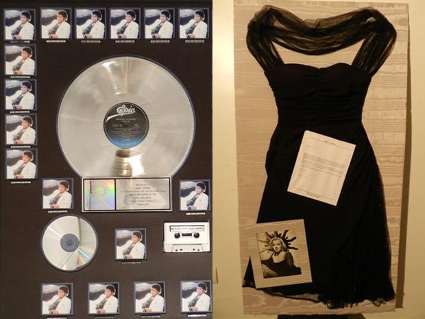 Disco de platina do Michael Jackson e vestido de Marilyn Monroe serão leiloados (Foto: Divulgação/ Companhia Paulista de Leilões)