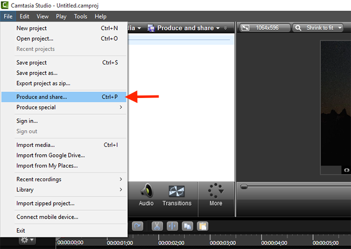 Iniciando o processo para salvar o arquivo de vídeo da gravação de tela realizado pelo Camtasia Studio (Foto: Reprodução/Marvin Costa)