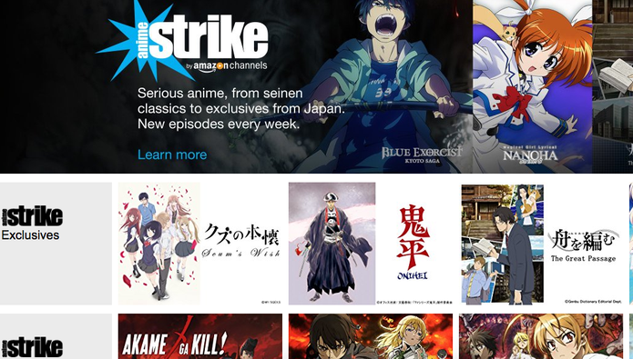 Anime Strike leva conteúdo exclusivo de anime à Amazon (Foto: Reprodução/Felipe Vinha)